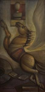 La Victoire de Pégase, peinture de Trajče Jančevski