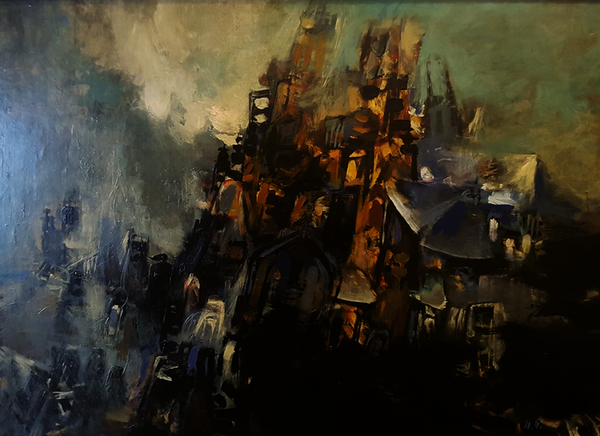 """""""Notre-Dame"""", Илија Пенушслиски. Приватна колекција на Илинка Митрева."""