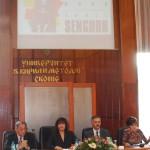 Од лево кон десно: Christian Valentin, Илинка Митрева, Георги Мартиновски и Јасмина Шопова.