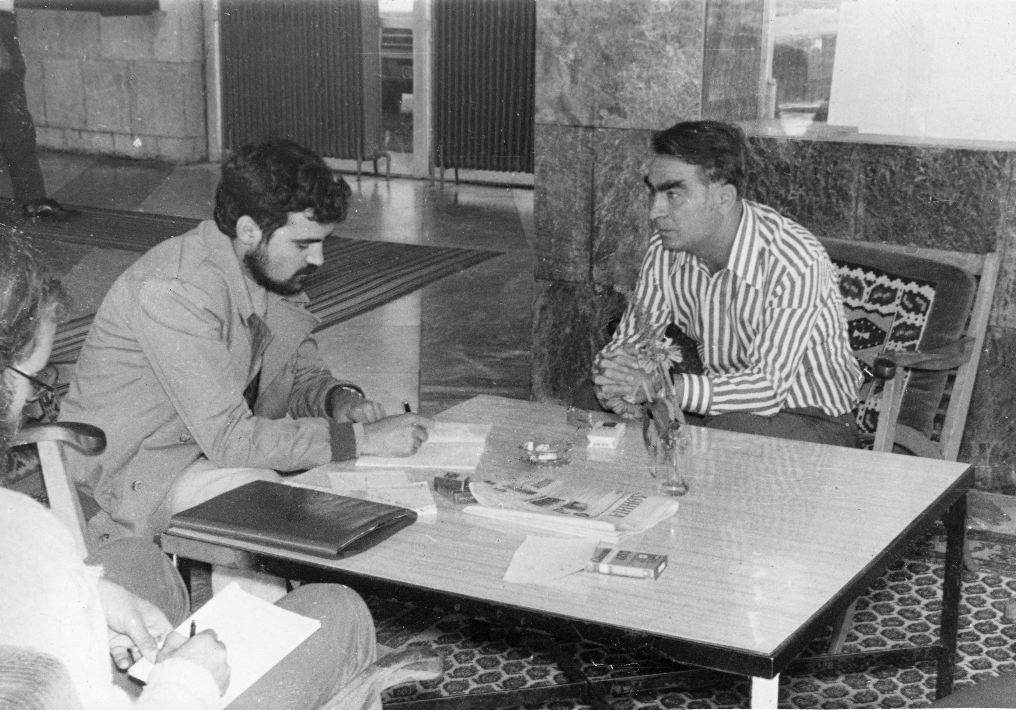 Risto Lazarov et Aco Šopov, le 12.11.1974