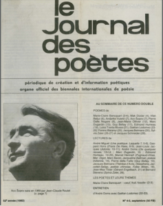 1982 Le Journal des poètes