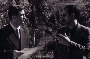 Ацо Шопов и Владо Малески, веројатно во 1958 год.