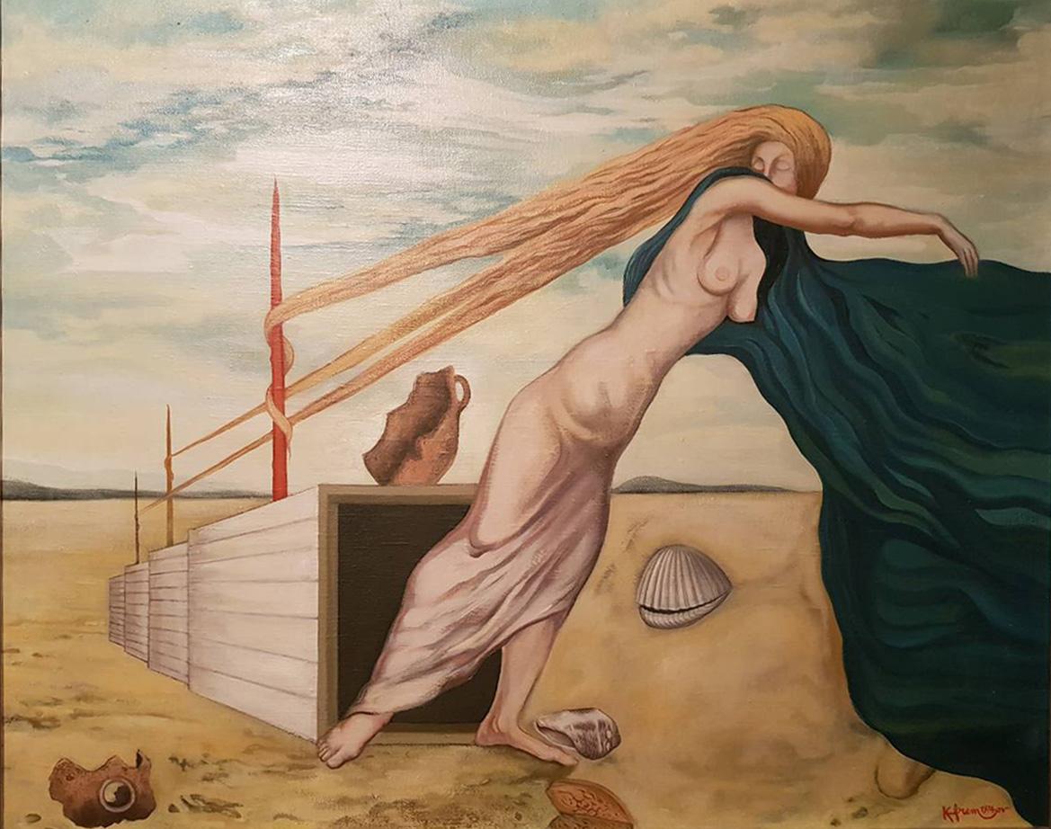 """""""Troisième prière de mon corps"""" (1974), tableau de Kiril Efremov, inspiré par le poème homonyme d'Aco Šopov"""